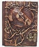 Cuaderno de piel | Cabeza de caballo | Diario, páginas en blanco...