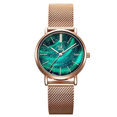 SHENGKE Fasion Relojes de Mujer Relojes de Cuarzo Elegante Reloj de Mujer Reloj de Mujer Reloj de Mujer Reloj de Mujer