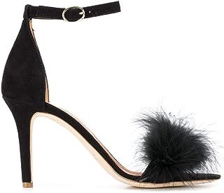 Luxury Fashion | Via Roma 15 Women 3043CAMNERO Black Leather Sandals | Season Permanent