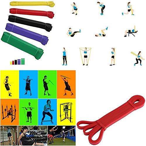 Loop Power Banda elástica para entrenamiento de fitness banda elástica resistencia cross entrenamiento funcional (rojo (13 mm) 7-16 kg)