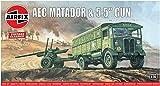 Airfix-1/76 AEC Matador & 5.5 Inch Gun Model, Color Gris (Hornby Hobbies LTD A01314V)