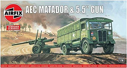 エアフィックス 1/76 ヴィンテージクラシックス イギリス軍 AECマタドール&5.5インチ砲 プラモデル X-1314V