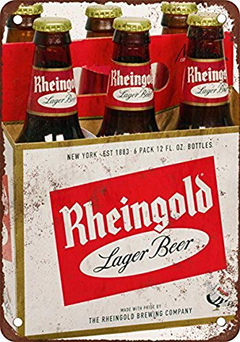 Houseuse Rheingold Bier Vintage Look Reproduktion Metall Blechschild 30,5 x 40,6 cm 12 inches x 16 inches Tin-signs-064