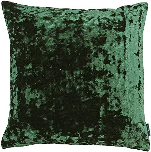 Riva Paoletti Roma Square Cushion Cover - Emerald Green - Crushed Velvet Look and Feel - Hidden Zip Closure - Machine Washable - 100% Polyester - 50 x 50cm (20' x 20' inches)