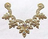 ASTONISH 1pc / lot populares flor Mariquesa AB cristalino de costura cuello apliques de novia vestido de novia zapatos de cuello Decoración: AB