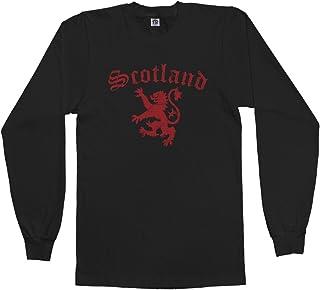 Threadrock Men`s Lion of Scotland Long Sleeve T-Shirt