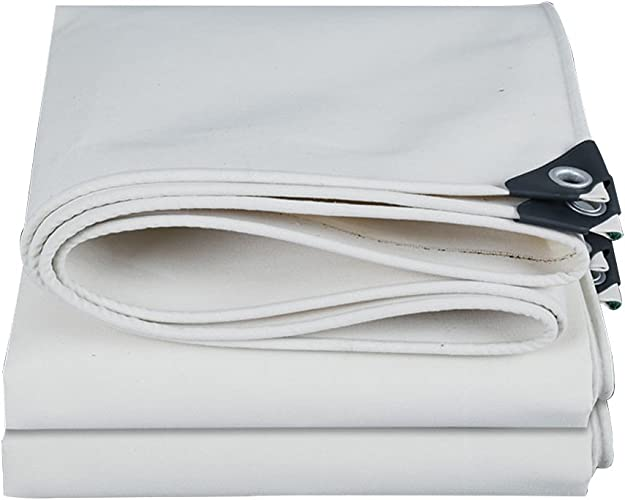 Toile de Prougeection Bache de Prougeection Solaire Housse Anti-Poussière Pour voituregaison Extérieure en Toile Robuste Imperméable Anti-VieillisseHommest, Durable, Blanc, WenMing Yue, 1,9 x 1,8 m