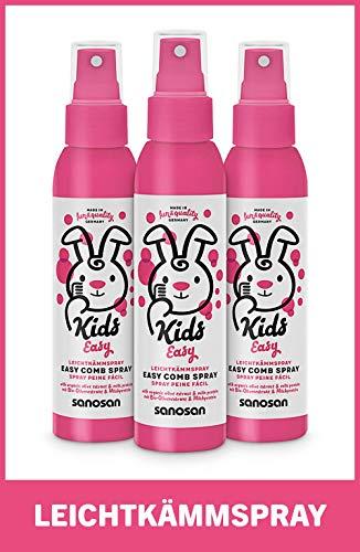 sanosan Leichtkämm Spray für Kinder - Leichtkämmspray mit Bio Olivenextrakt & Milchprotein im 3er Pack (3x 125 ml)