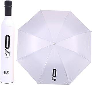 Invero Ideale per Uso Personale o Come Regalo Diametro 95 cm Ombrello Portatile per Bottiglia di Vino Colore Rosso Scuro Idea Regalo Divertente con Ombrello