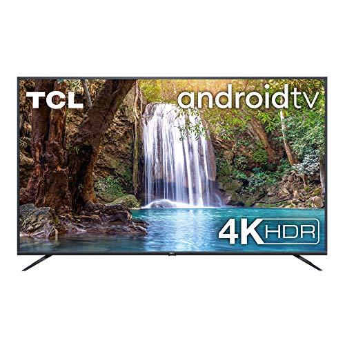 TCL 75EP660 Fernseher 190 cm (75 Zoll) Smart TV (4K UHD, Android TV, Prime Video, HDR 10, Micro Dimming Pro, Google Assistant, Alexa kompatibel, Chromecast) Brushed Titanium