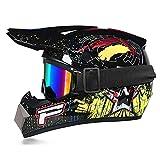 Motocrosshelm mit Goggle Kinder-Handschuhe, Integralhelm, MTB Helm, Motocross, MX ATV, Roller, D.O.T zertifiziert
