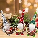 Bseical Cesta Almacenamiento Dulces NavideñOs, 3 Piezas Elfos De Decoracion Navidad MuñEco, Decoracion Navidad Mesa, Bolsa De Dulces Canasta De Dulces NavideñOs, Navidad DecoracióN Casa