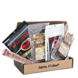 Sampler Jerkygram by Man Crates – Includes 5 Delectably Different Meat Varieties – Exotic, Booze-Infused, Bacon, Spicy and Our On-The-Go Favorite Stick – Great Gifts for Men