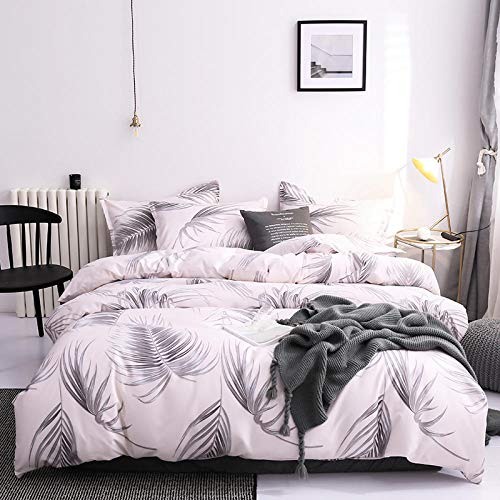 Nordic Simple Bedding Set Adult Duvet Cover Sets Bedclothes Bed Linen Sheet Single Double Queen King size Qulit Covers -A_229*260cm_(3Pcs)