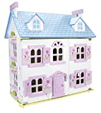 Leomark Dream House Casa de Muñecas de Madera con muñecas - Color Rosa - Villa (60...