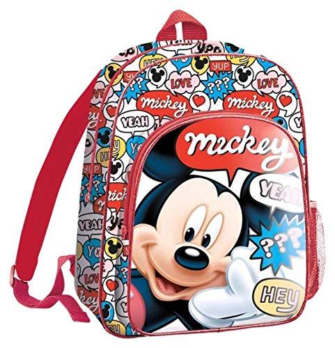 Mickey Mouse 36cm Mochila Tiempo Libre y Sportwear Infantil  Juventud Unisex  Multicolor