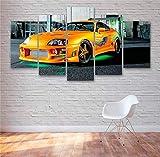 YFTNIPL 5 Leinwand Druck Kunst Poster Toyota Supra, Schnell