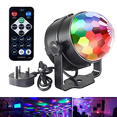 Disco Lights,DJ Disco Ball Party Light,LED Stage Lights,Music Activated