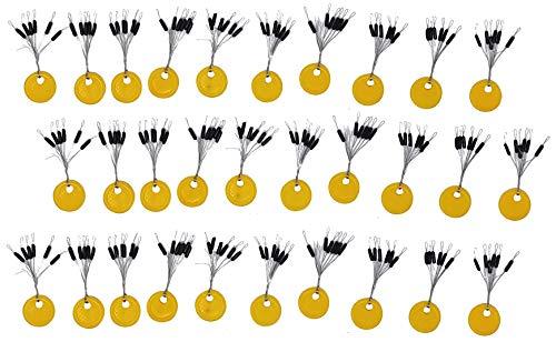 SANDAFISHING 180 Gummistopper Schnurstopper Angel Zubehör Friedfisch Set Posenstopper Gummiperle Angeln klein Gummi Set Silikon Perlen Stopperperlen 4mm schwarz 2mm Knotenschutz