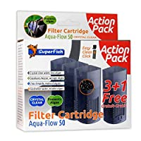 Replacement Crystal Cartridge - a combination of activated carbon and Zeolite. Suitable for SuperFish Aqua Flow 50 Internal Filter Easy to replace and click in place It is recommended to replace media regular to ensure clean and healthy water Assists...