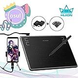 Huion Inspiroy H430P 2019 Aggiornamento Grafica Tavoletta grafica per Osu! Signature Pad con penna senza batteria 4096 livelli 4 tasti di scelta rapida per telefono Android, Windows, Mac
