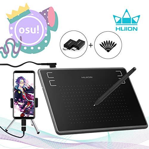 HUION Inspiroy H430P 2019 Upgrade Zeichnungsgrafiktablett für OSU! Signature Pad mit batterielosem Stift 4096 Levels 4 Shortcut-Tasten für Android-Telefone, Windows, Mac