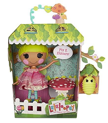 Lalaloopsy Pix E. Flutters 33cm con luciérnaga-Muñeca Hada con Vestido Rosa y Zapatos Intercambiables-Caja Reutilizable-Edad: 3+ años, Multicolor (576877C3)
