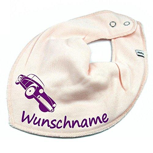 Elefantasie Elefantasie HALSTUCH Auto mit Namen oder Text personalisiert rosa für Baby oder Kind