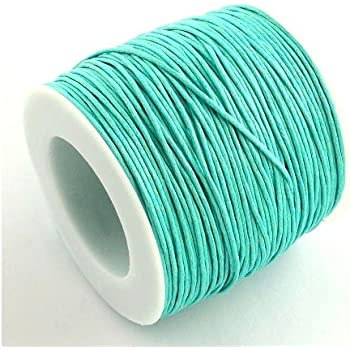 1 x Green Waxed Polyester 10m x 1mm Thong Cord Continuous Length Y06350