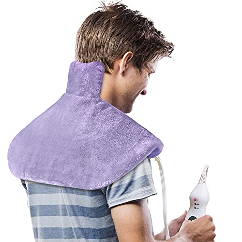 Product Image of the PROALLER Shoulder Heating Pad, 18' X 25' Heat Therapy Wrap for Neck, Back,...