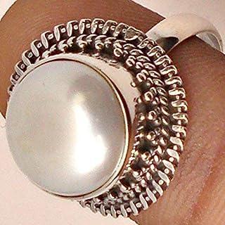 Perla con moneta d'acqua dolce, Anello di perle per monete, Anello in argento perlato, Argento massiccio 925, Perle per mo...