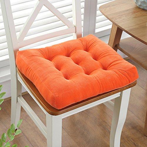 Coussin de siège anti-dérapant coton,Coussin de chaise,[les élèves s'épaississent] Coussin en bout de tatami Coussin de tabouret carré en classe Coussin en peluche tissu-Orange 50x50cm(20x20inch)