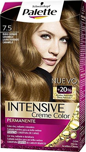 Palette Intense - Tono 7.5 Rubio Dorado Caramelo - Coloración Permanente - Schwarzkopf
