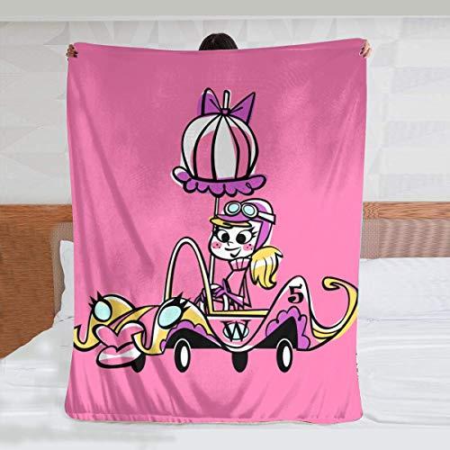 Penelope Pitstop, coperta super morbida e calda, coperta leggera e soffice per divano letto, 200 x 150 cm