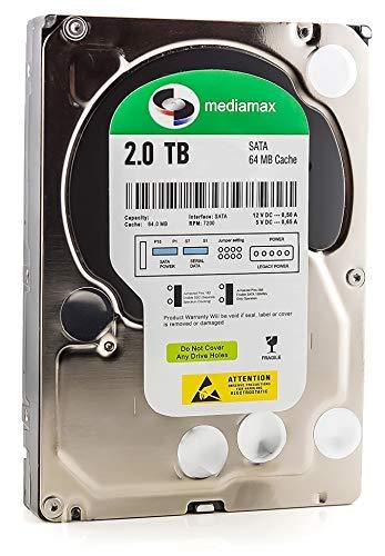 Mediamax 2TB interne Festplatte 3,5 Zoll HDD SATA III, 6.0 Gb/s Cache 64MB, RPM: 7200 (U/min), 2000GB, WL2000GSA6472G, SATA Hard Drive 2 TB Festplatte intern, Backup für Desktop PC Computer