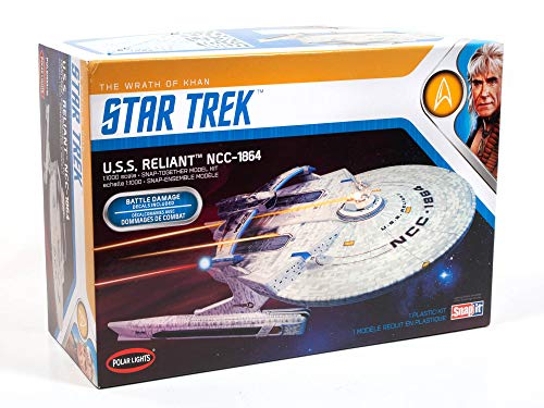 Polar Lights Star Trek U.S.S. Enterprise Reliant Wrath of Khan Edition 1:000 Scale Set Prop Replica Model Kit