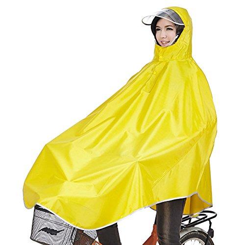 Sorliva Windproof Hooded Cycling Bike Bicycle Raincoat Poncho 1 Pack (Yellow)