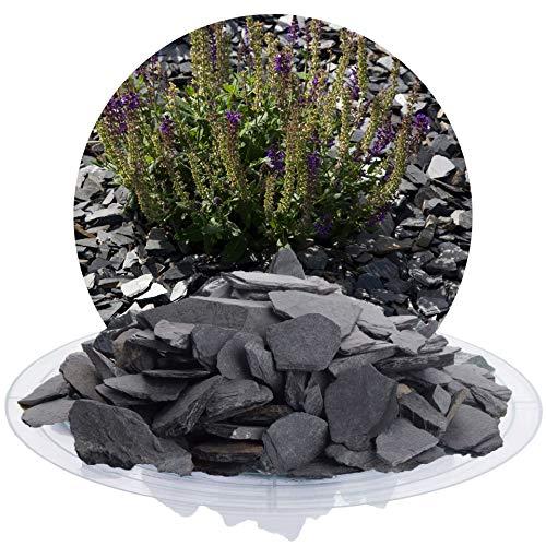 25 kg Deutscher Schiefersplitt in verschiedenen Größen, schwarzer Naturstein Splitt ideal zur Gartengestaltung (Schiefer Splitt, 20-40 mm)