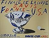 Tennis Coupe Davis Grenoble 1982 Poster, Reproduktion,