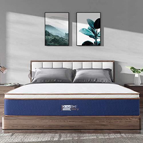 BedStory Queen Mattress - Latex Memory Foam & Strong Pocket Spring Mattress - 10In Medium Firm Innerspring Bed Mattress - CertiPUR-US Certified