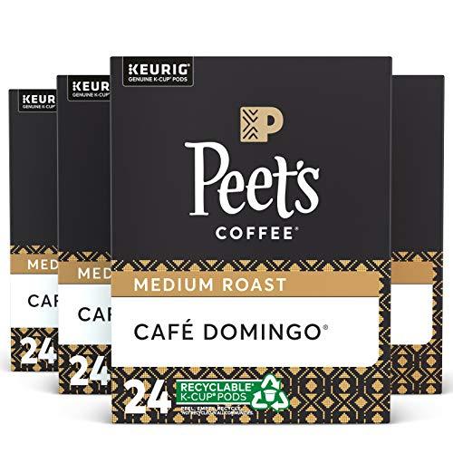 Peet's Coffee Café Domingo, Medium Roast, 96 Count Single Serve K-Cup Coffee Pods for Keurig Coffee Maker