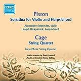 Piston: Violin Sonatina - Cage: String Quartet in Four Parts
