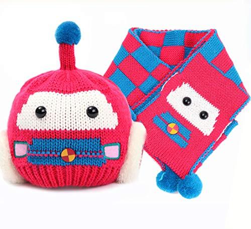 ZXYSMM Bebé gorro de invierno gorro de bebé otoño e invierno nuevo coche gorro de oreja bufanda sombrero bufanda conjunto de dos piezas/A/Talla única