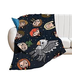 Harry Potter - Manta para adultos y niños, supersuave, para cama y sofá, de viaje