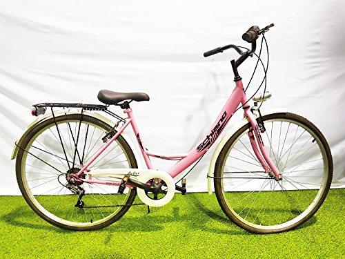 SCHIANO Bicicleta Bicicleta 28Relax monotubo Cambio Power 6V
