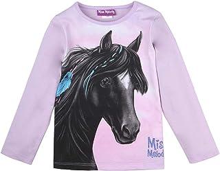 Miss Melody niñas Camiseta, T-Shirt, Manga Larga, Violeta
