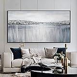 Pintura abstracta de arte de pared, póster de arte de río y mar, impresiones en lienzo, arte de pared para decoración moderna de la casa de la sala de estar 60x120 CM (sin marco)