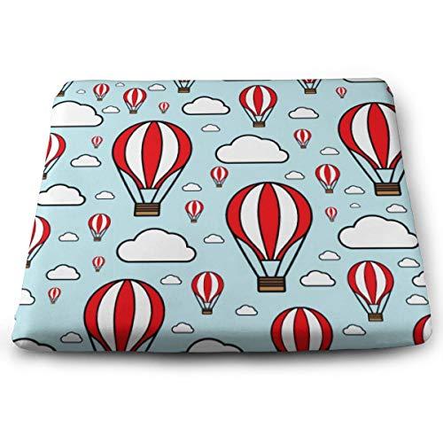 Memory Foam Pad zitkussen. Autostoel Kussens om hoogte te verhogen - bureaustoel Comfort Kussen - Blue Hot Air Balloon