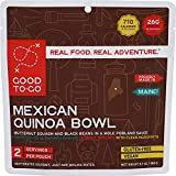 GOOD TO-GO Mexican Quinoa Bowl - Double Serving | Dehydrated Backpacking and Camping Food | Lightweight | Easy to Prepare