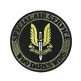 WT-DDJJK Accesorios de Vestuario de Caza, Ejército británico SAS Servicio aéreo Especial Fuerzas Especiales Parche de Bucle de Gancho 3D Insignia Ops